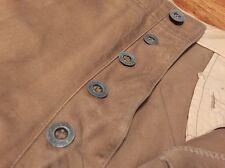 Vintage WWI US Army Infantry Trouser Khaki Cotton Button Fly Uniform Pants.