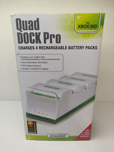 DreamGEAR Xbox 360 White Quad Dock Pro - Charges 4 batteries simultaneously