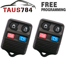 2 New Replacement Keyless Entry Remote Key Fob Car Transmitter Beeper For Ford