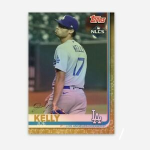 Joe Kelly Baseball Card Dodgers Vinyl Sticker Chrome Holo Refractor World Series