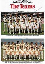 SIGNED MAGAZINE PAGE BY DAVID HOOKES  & ALLAN BORDER COMES WITH ITS OWN C.O.A