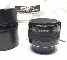 Promaster Spectrum 7 Lens 2 x Auto Teleconverter MC7 For Minolta M / MD Japan