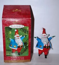 Hallmark Keepsake Santa Claus Hooray For The Usa Christmas Ornament 2000