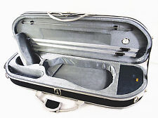 Gray Interior 4/4 Enhanced/Moon Shape Designed Violin Case+Free strings set