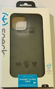 NEW Speck Presidio Perfect-Mist Soft Touch Smoked Case for iPhone 12 Pro Max