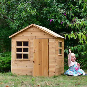 Evermeadow House Wooden Playhouse Unique Slot-Together Design Optional Floor