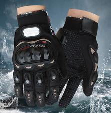 Carbon Fiber Pro-Biker Bike Motorcycle Motorbike Racing Gloves Full M Black
