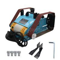 220V 950W Bench Belt Sander Desktop Double Belt Grinder Polishing Machine os12
