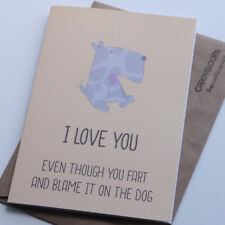 Fart and blame the dog, Husband, Wife, Funny Birthday Card