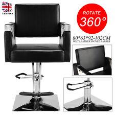 Black Leather Style Swivel Chair Hairdressing Barber Hair Cut PU Salon Furniture