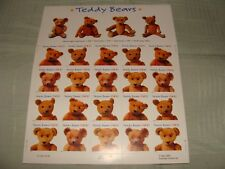 """""""TEDDY BEARS"""" stamps  NEW   37cent value each"""