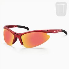 Occhiali e monolente da ciclismo con montatura in rosso polarizzati