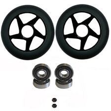 2 PRO STUNT SCOOTER CYCLONE BLACK SOLID METAL CORE WHEEL 110mm  ABEC 11 BEARINGS
