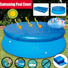New 8ft-12ft Round Swimming Paddling Pool Cover Inflatable Easy Fast Set Rope US