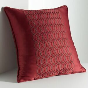 """Simply VERA WANG Red PILLOW Size: 18 x 18"""" New SHIP FREE Bedding LINKS"""