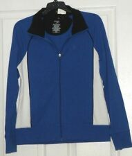 *Danskin Now Women'S Knit Jacket Size M 8/10 Stretch Blue Nwt