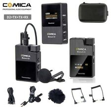 Comica BoomX-D2 2.4G Wireless Microphone System for DLSR Sony Nikon Canon DSLR