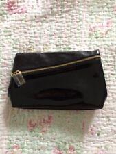 Yves Saint Laurent Soft Black Patent Beaute Make Up/Clutch Bag Diagonal Zip NEW