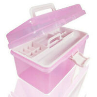Multi-function Storage Containers Craft Plastic 2Layer Case Box Organizer Tool W