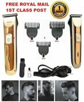 Professional Hair Clippers Cordless Trimmer Shaver Pro Men's Basic Barber Set UK