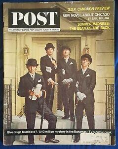 Beatles USA vintage magazine Saturday Evening Post August 8 1964