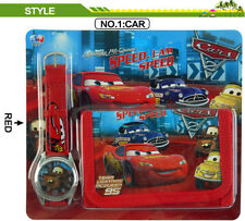 DISNEY PIXAR CARS MCQUEEN TOY - KID CHILDREN BOY ACCESSORIES WATCH WALLET PURSE
