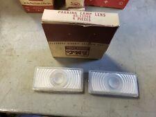 NOS OEM LH & RH Parking Light Lens 1950 Ford OA-13208 Lamp