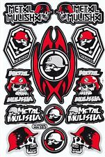 1 SHEET NEW METAL MULISHA MOTOCROSS ATV ENDURO BIKE RACING DECAL STICKER SK118