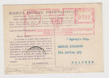 Italy 1936 Commerce Card Meter Sent to Bulgaria - p37607