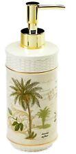 Palm Tree Lotion Pump Dispenser Bottle Bath Beach Bathroom Calm Caribbean Decor