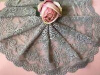 "laverslace - Quality Silver Grey Wide Stretch Lace Trim 6.5""/16 cm"