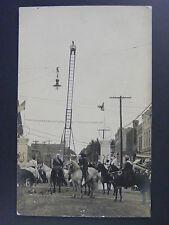 Hartford Wisconsin WI Man High Dive Stunt Circus Real Photo Postcard RPPC c1910