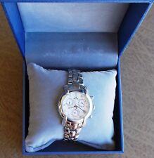 Sonia Bitton (Bulova) Ladies Diamond Chronograph Quartz Watch 96R59 (Pre Owned)