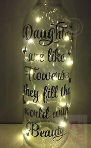 DAUGHTERS ARE LIKE FLOWERS DIY WINE BOTTLE VINYL DECAL STICKER BIRTHDAY GIFT