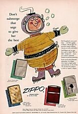 1955 AD ZIPPO LIGHTER COLOR DEEP SEA DIVER GREAT DANE