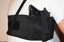 Concealed Carry Holster chest band HOLSTER Small Gun Glock Sig XD Kimber BLACK