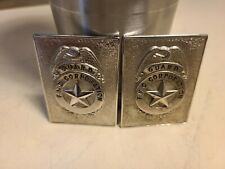 VINTAGE SECURITY BADGE LOT OF 2 FMC Food Machinery and Chemical Corporation PICS