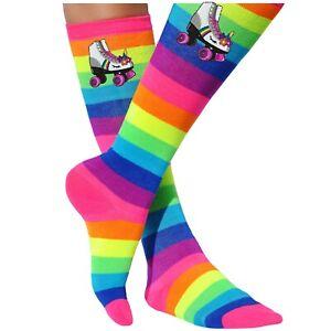 Bubblegum Divas Rainbow Socks Skating Party Unicorn Birthday Roller Skate Womens