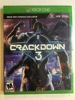 Crackdown 3 (Microsoft Xbox One 2019) Brand New! Factory Sealed!