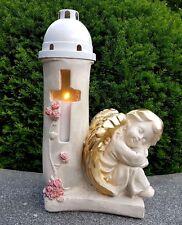 Engel Figur Grablaterne Grablampe Teelicht Grablicht Schutzengel Engelfigur