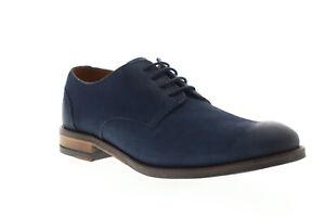 Clarks Flow Plain 26143649 Mens Blue Oxfords & Lace Ups Plain Toe Shoes