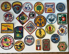 Lot of 25 Vintage - BSA Patches (1960s - 1970's) Boy Scout Camp Patches