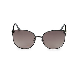 TOM FORD Women's FT0718- 01F Black/Dark Gray Sunglasses- 100% Authentic
