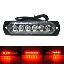 6LED Red Car Truck Motorcycle Warning Lights Waterproof  Flash Strobe Lamp Bulbs