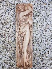 Portador de agua Dama griego decorativo recargado Placa de Yeso Pared Colgante Hecho A Mano
