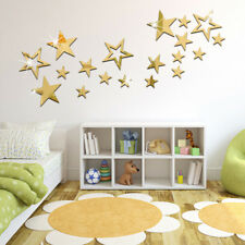 3D DIY Star Wall Sticker Mirror Stickers Creative Hollow-Out Wall Decoration KV