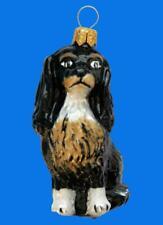 Cavalier King Charles Spaniel Dog European Glass Christmas Tree Ornament Hund