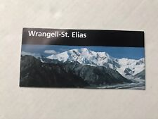 National Park Service Wrangell - St. Elias NP And Reserve Map Alaska McCarthy