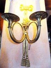GOLD MESSING KERZEN WAND LAMPE LEUCHTER LÜSTER APPLIKE Antik Barock Empire Louis