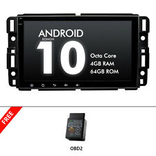 """OBD+Android 10 For GMC Chevrolet Car Radio Bluetooth Touch Screen GPS 8"""" 4+64GB"""